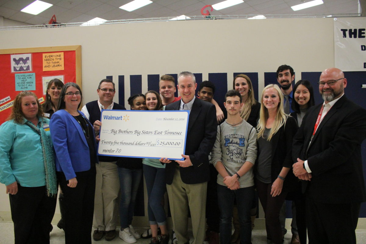Big Brothers Big Sisters of East Tennessee receives $25,000 grant from Walmart Foundation